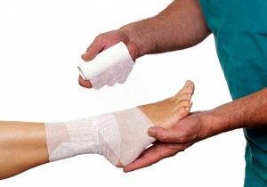 первая помощь при вывихе ноги
